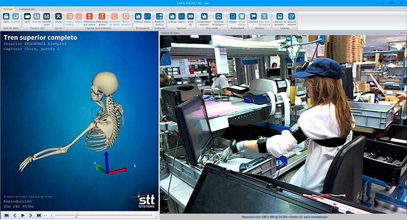Estudios ergonómicos con iSen system. Un sistema de sensores de alta gama que registran el movimiento.